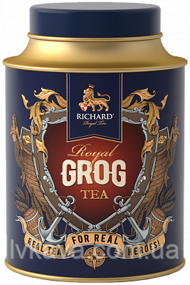 Чай черный  ароматизированный  Royal Grog  Richard ,ж\б, 80 гр, фото 2