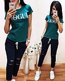 Легкая удобная женская футболка Vogue S/M/L/XL, фото 3