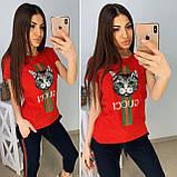 Модная женская футболка Gucci S/M/L/XL, фото 6