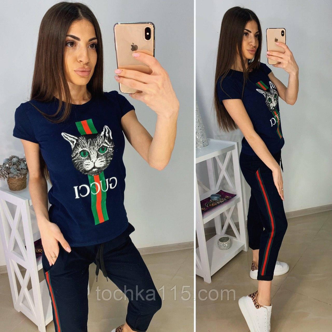 Удобная летняя женская футболка Gucci S/M/L/XL