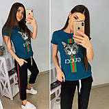 Удобная летняя женская футболка Gucci S/M/L/XL, фото 2