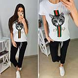 Удобная летняя женская футболка Gucci S/M/L/XL, фото 4