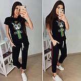 Удобная летняя женская футболка Gucci S/M/L/XL, фото 5