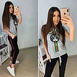 Удобная летняя женская футболка Gucci S/M/L/XL, фото 7