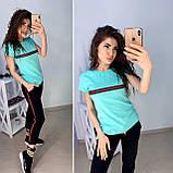 Стильная легкая футболка  Gucci S/M/L/XL, фото 3