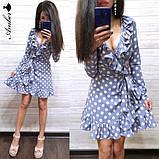Легке літнє плаття 42-44, 44-46 рр, чорний горошок, фото 2