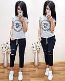 Стильная удобная футболка, турецкий трикотаж S/M/L/XL, фото 3