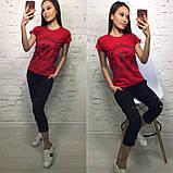 Стильная удобная футболка, турецкий трикотаж S/M/L/XL, фото 5
