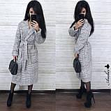 Класичне стильне пальто-халат, 42-46 р, фото 2