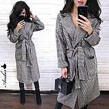 Класичне стильне пальто-халат, 42-46 р, фото 3