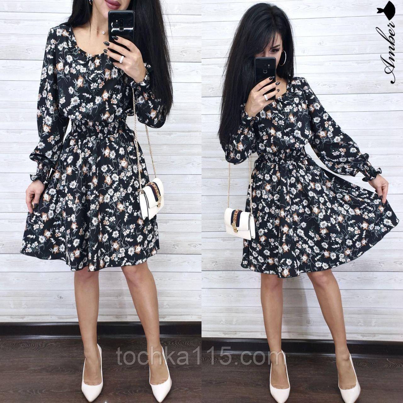 Легкое летнее платье, 42-44, 44-46 рр, черный