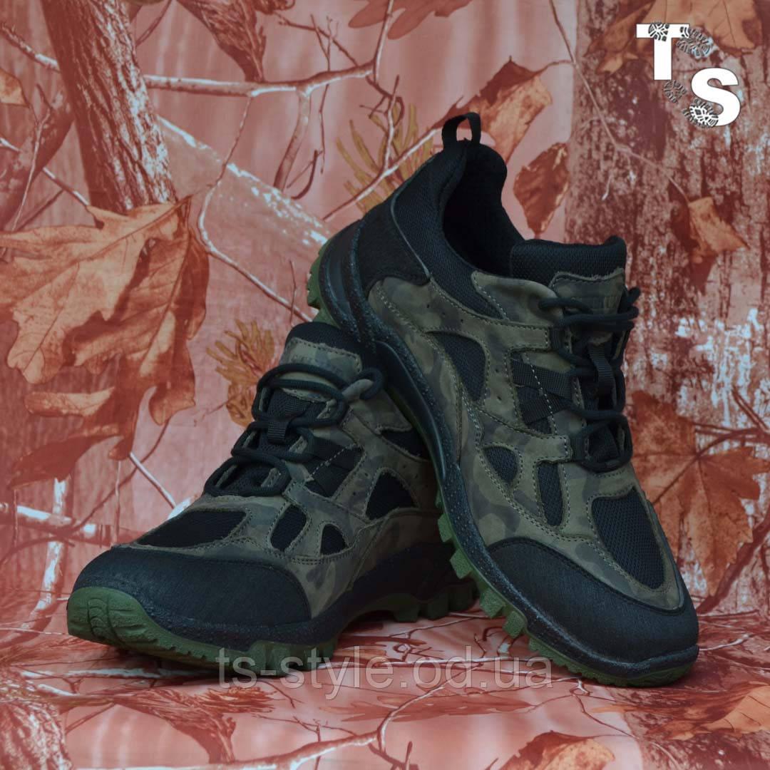 Тактичні кросівки TEXAS нубук cordura камуфляж чорні демі/зима