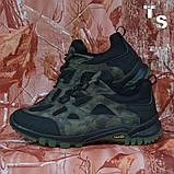 Тактичні кросівки TEXAS нубук cordura камуфляж чорні демі/зима, фото 2