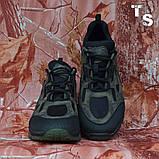 Тактичні кросівки TEXAS нубук cordura камуфляж чорні демі/зима, фото 5