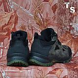 Тактичні кросівки TEXAS нубук cordura камуфляж чорні демі/зима, фото 3