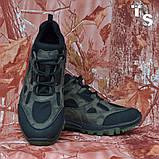 Тактичні кросівки TEXAS нубук cordura камуфляж чорні демі/зима, фото 9