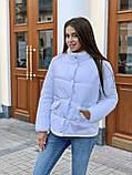 Теплая курточка на кнопках, S/M, цвет пудра, фото 2