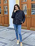 Теплая курточка на кнопках, S/M, цвет пудра, фото 3