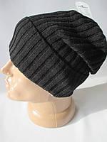 Вязанные шапки с отворотом для мужчин.