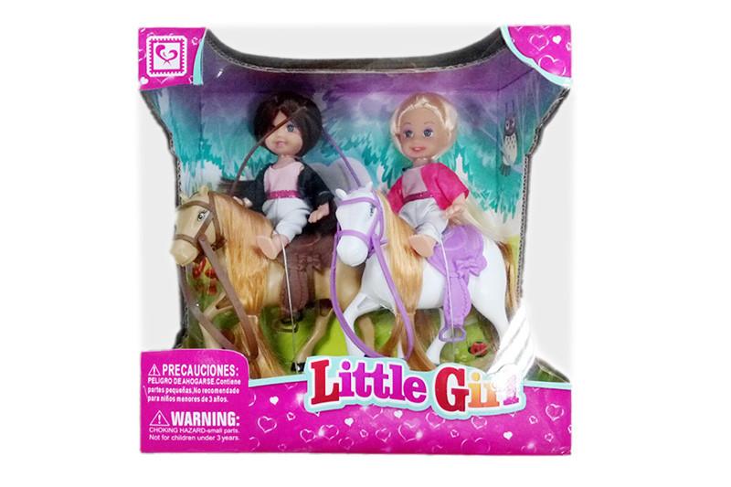 Игрушка Набор лошадки с куклами