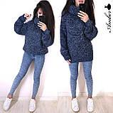Очень теплый и стильный свитер-хомут, 42-46 р, меланж-беж, фото 3