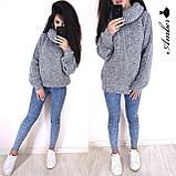 Очень теплый и стильный свитер-хомут, 42-46 р, меланж-беж, фото 6