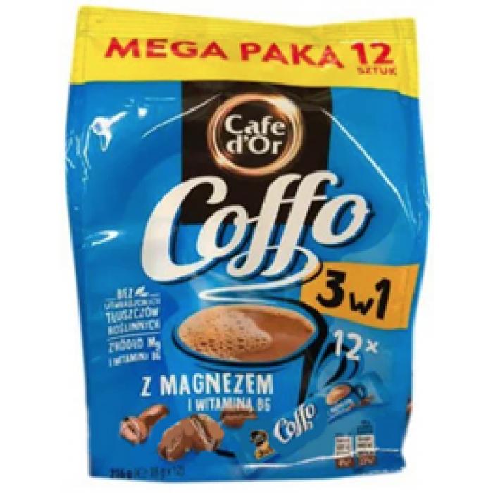 Кофе растворимый Cafe Dor Coffe 3в1 z magnezem, 216г (12шт х 18г)