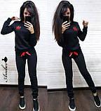Женский спортивный костюм, костюм для прогулок, S/M (бордо) (familylook), фото 2