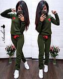 Женский спортивный костюм, костюм для прогулок, S/M (бордо) (familylook), фото 3