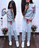 Женский спортивный костюм, костюм для прогулок, S/M (бордо) (familylook), фото 4