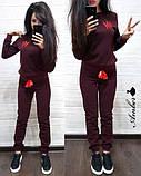 Женский спортивный костюм, костюм для прогулок, S/M (светло-серый) (familylook), фото 3