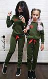 Женский спортивный костюм, костюм для прогулок, S/M (светло-серый) (familylook), фото 5