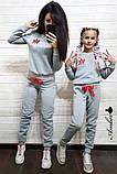 Женский спортивный костюм, костюм для прогулок, S/M (светло-серый) (familylook), фото 8