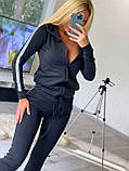 Женский спортивный костюм, костюм для прогулок, S/M/L/XL (бордо), фото 2