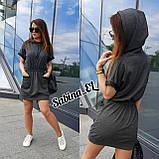Практичне жіноче плаття, турецький трикотаж S\M, фото 6
