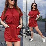 Практичное женское платье, турецкий трикотаж S\M, фото 3