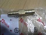 Соединитель Двойник 10х10мм шлангов зубчатый латунь длина 55мм переходник автомобильный Белебей №6 для на авто, фото 3