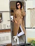 Тёплый кардиган в пальтовом стиле, плотной машинной вязки дополнит Ваш деловой образ, 42-46 р, бордо, фото 3