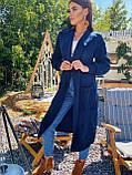 Тёплый кардиган в пальтовом стиле, плотной машинной вязки дополнит Ваш деловой образ, 42-46 р, бордо, фото 5