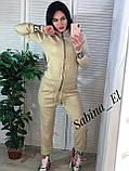Оригинальный вязаный костюм, удобный, приятный к телу, 42-46р (серый), фото 2