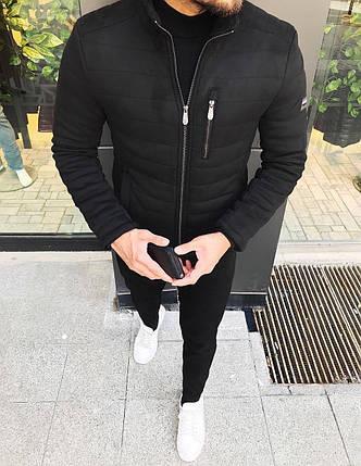 Зимняя мужская куртка черного цвета, фото 2