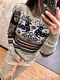 Теплый шерстяной женский свитер (вязка), фото 3