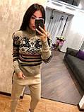 Теплый шерстяной женский свитер (вязка), фото 5
