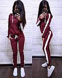 Стильный костюм, турецкая двухнитка, S/M/L/XL/XXL, цвет красный-черный, фото 7
