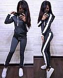 Стильный костюм, турецкая двухнитка, S/M/L/XL/XXL, цвет бордовый, фото 2