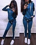 Стильный костюм, турецкая двухнитка, S/M/L/XL/XXL, цвет бордовый, фото 4