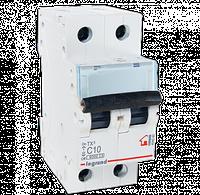 Автоматический выключатель 2-полюсный Legrand TX3 10A 2Р 6кА тип «C»