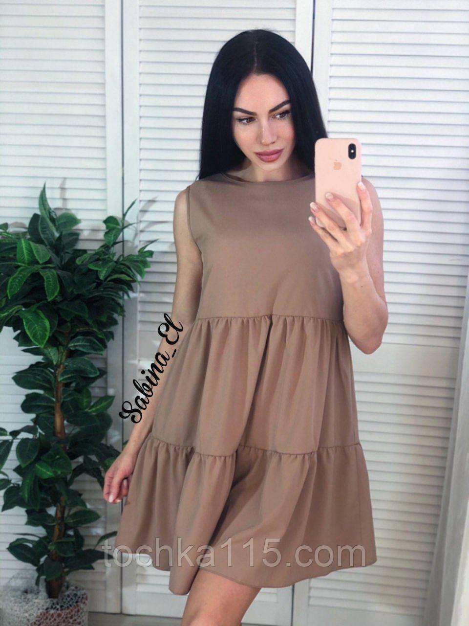 Красивое легкое платье супер софт S/L