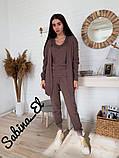 Вязаный костюм тройка, стильный и удобный, 42-46р (горчичный), фото 5