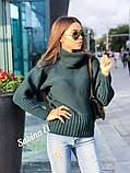 Стильный свитер, очень теплый, 42-48 р, горчичный, фото 2